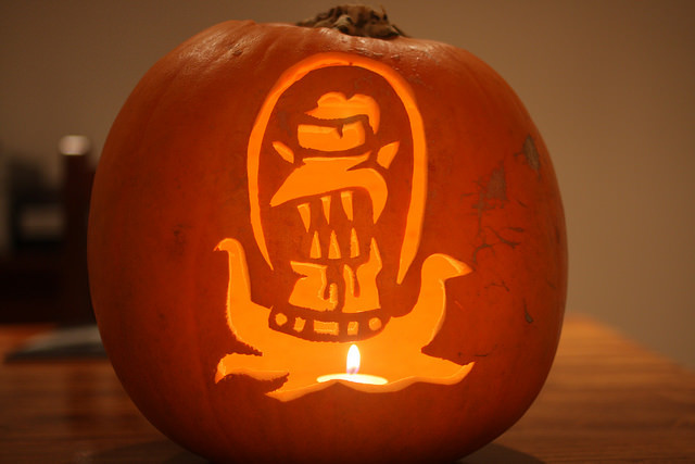 jack o lantern simpsons alien