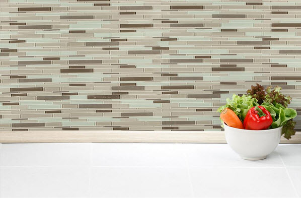 Salerno Glass Mosaic - Designer Stripe