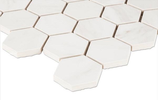 Salerno Porcelain Mosaic - Carrara Venato Series