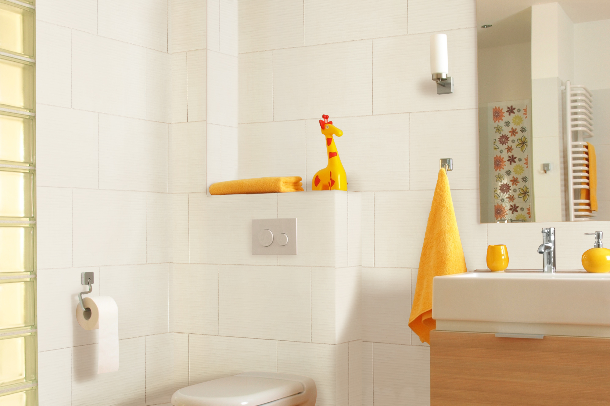 The modern bathroom porcelain for White ceramic tile bathroom
