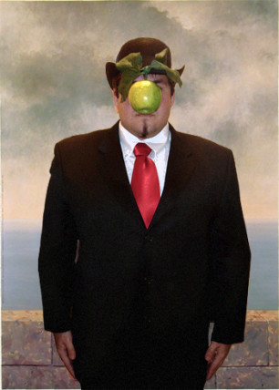 Magritte son of man costume