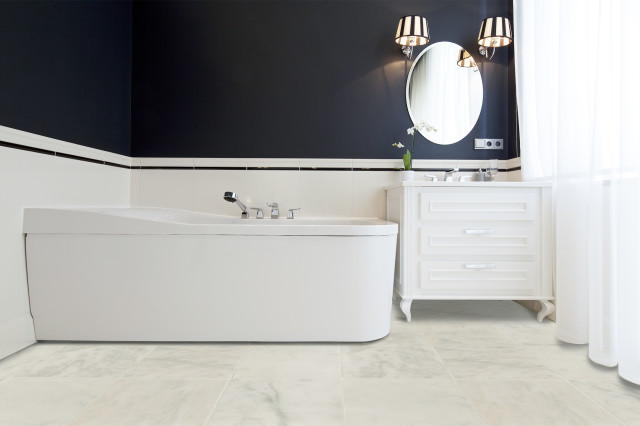 marble tile white-polished-12x12-room