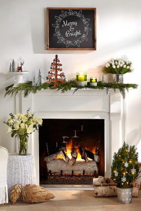 festive mantel
