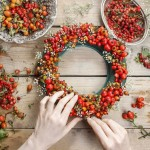 natural christmas decor rosehip and hawthorne wreath