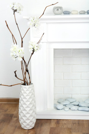 branches in vase decor