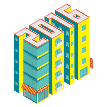 2016 buildings illustration