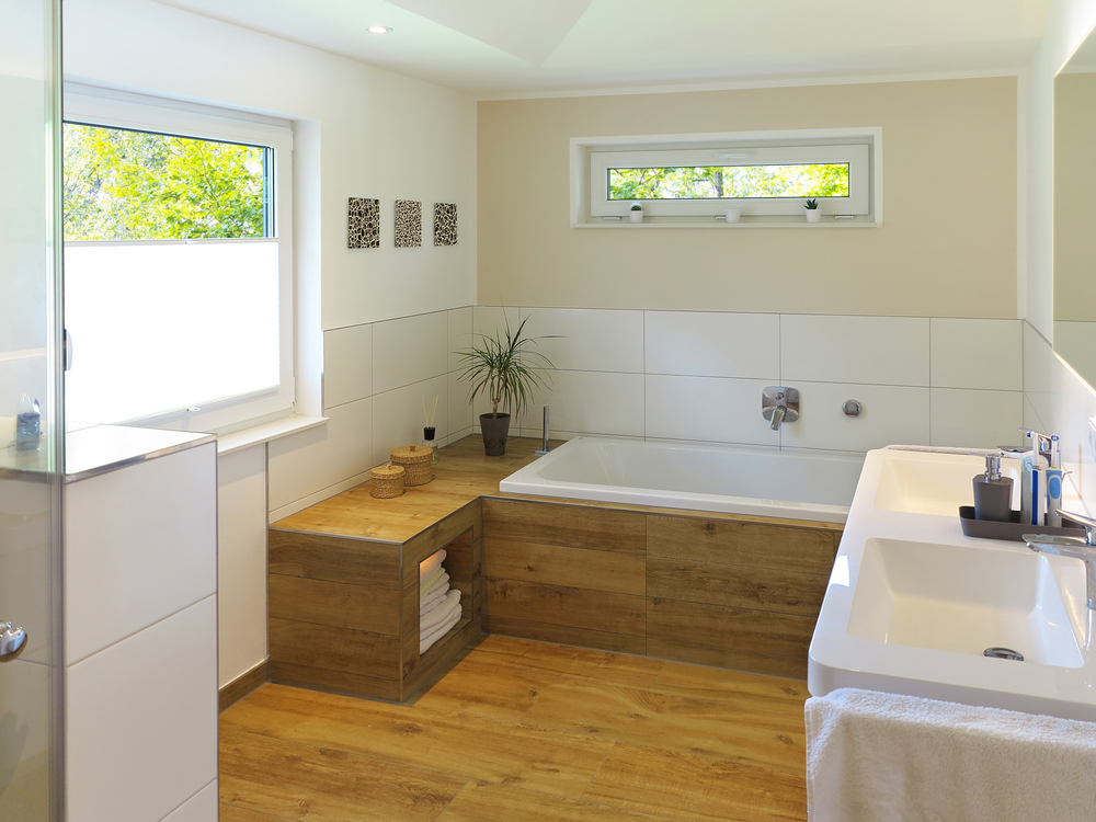 The modern bathroom wood for Bodenfliesen badezimmer