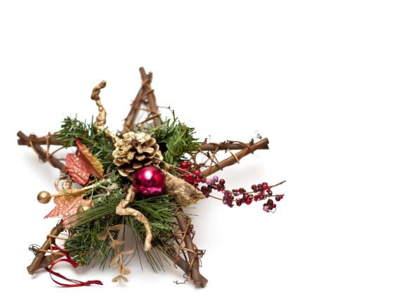 star shaped wreath