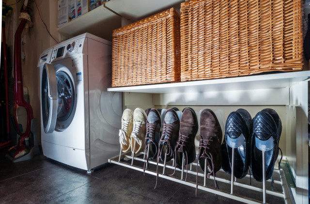 storage baskets shoe trees washing machine