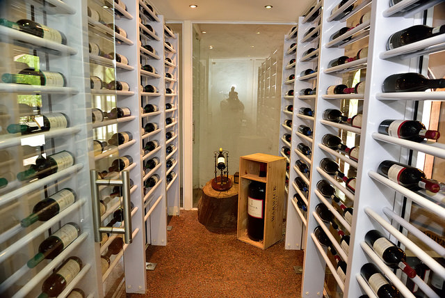 basement wine room