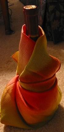 Furoshiki scarf gift wrap