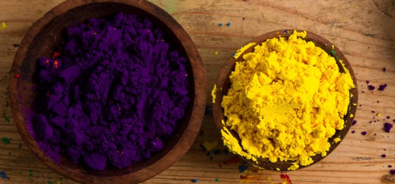 color wheel complementary colors purple yellow