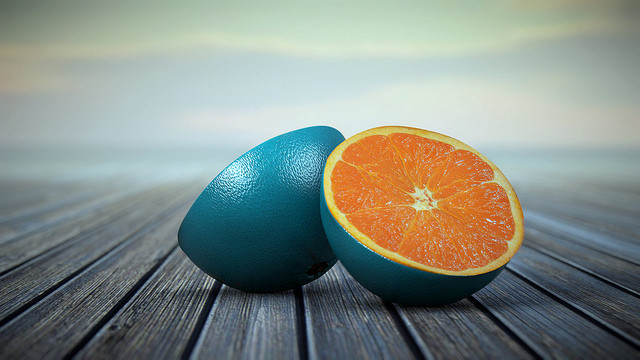 Complementary Colors Blue Oranges