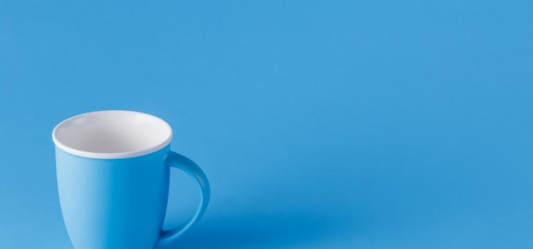 blue cup monochromatic color scheme