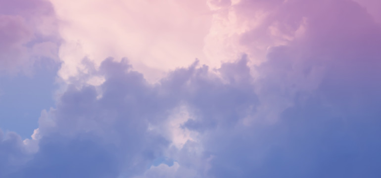 pink and blue clouds