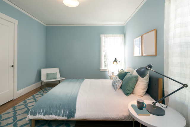 blue serene bedroom