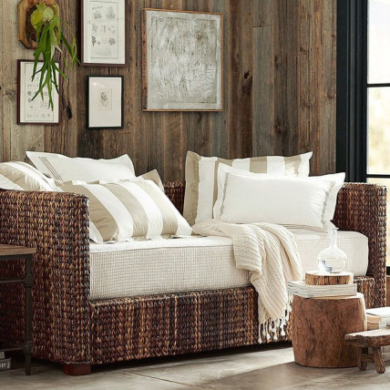 rustic home decor couch wood panels