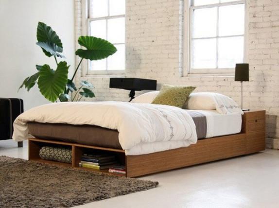 bedroom rattan bedframe