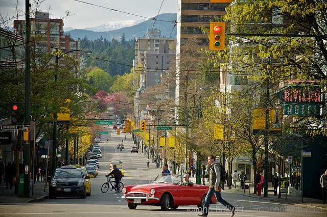 Robson street Vancouver west end