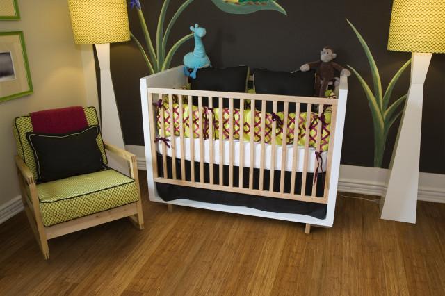 carbonized bamboo flooring in nursery