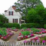 color wheel garden and landscape