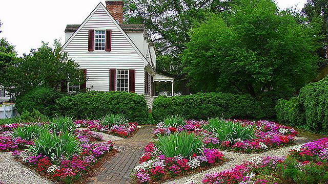 color wheel garden and landscape