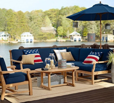 red white and blue outdoor furniture