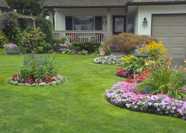 front yard landscaping garden edging