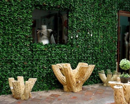 faux vinyl green wall exteriors
