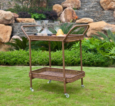 bar cart outdoor living space