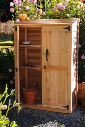 petite wood garden shed