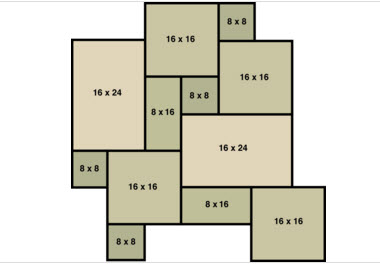 stone paver layout plan