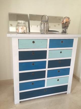 bedroom dresser drawers paint accents