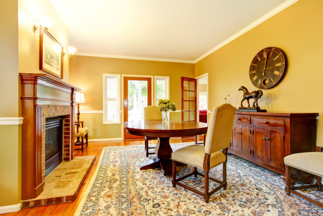 brightly colored sitting room