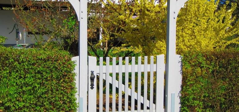 gate arbor hedge