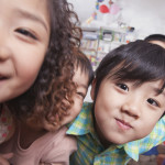 kids close up in playroom