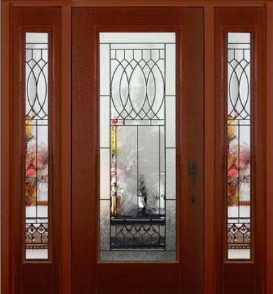 fiberglass exterior door frosted glass