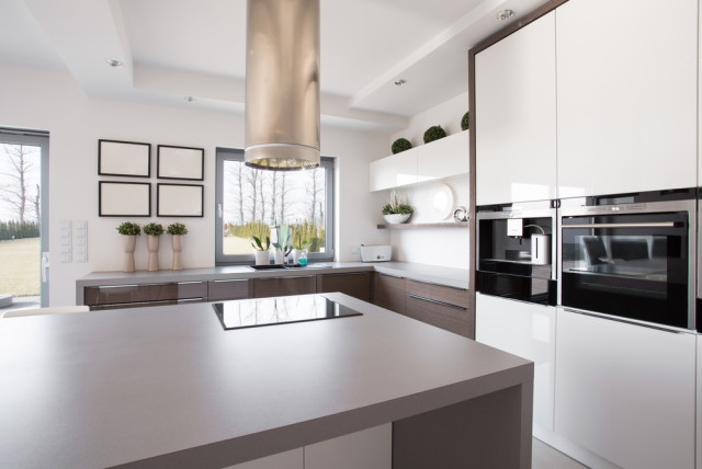 stylish kitchen neutral colors natural light