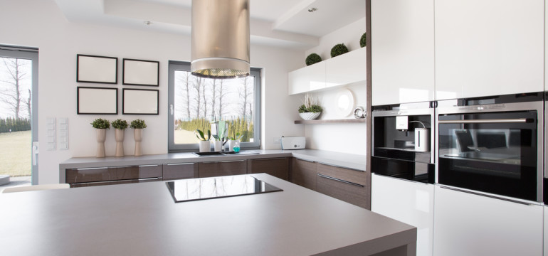 stylish kitchen neutral colors natural light