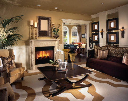living room stately brown color palette