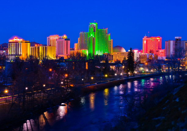 Reno Nevada skyline night