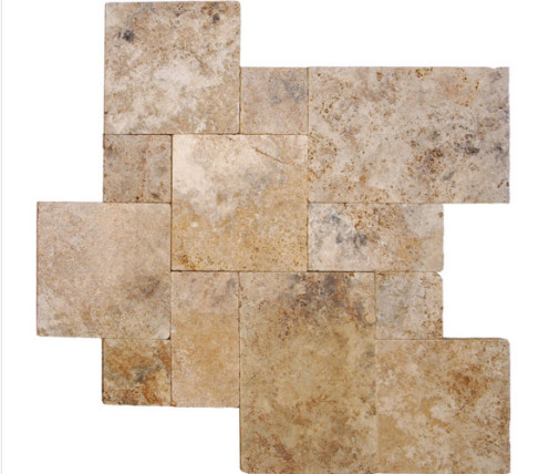 travertine pavers garden path