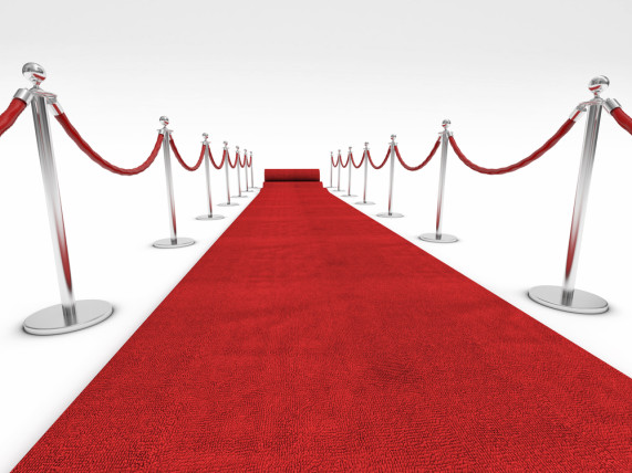red carpet and velvet ropes