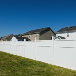 white vinyl fence suburb