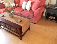 cork flooring living room pink couch
