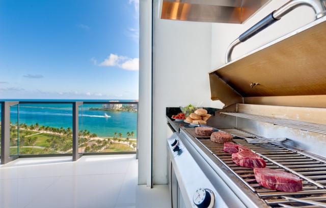 outdoor grill balcony