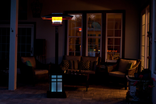 outdoor heater and fireplace