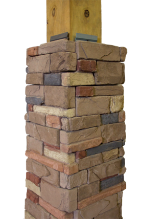 manufactured  stone deck post cover