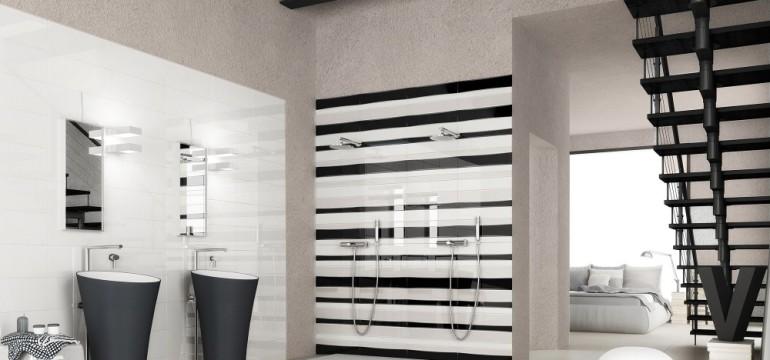 ultra modern bathroom featuring modern subway tile