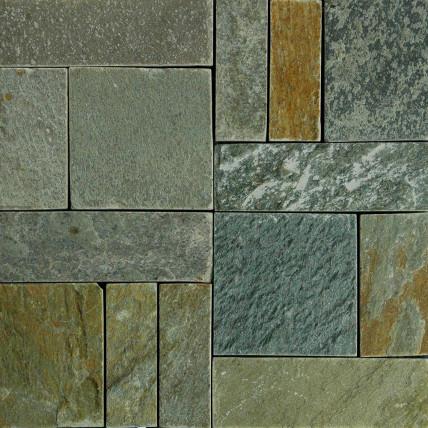 Natural quartz deck tiles